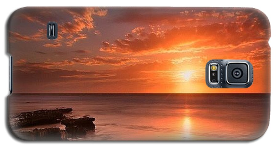Galaxy S5 Case featuring the photograph Long Exposure Sunset At A North San by Larry Marshall