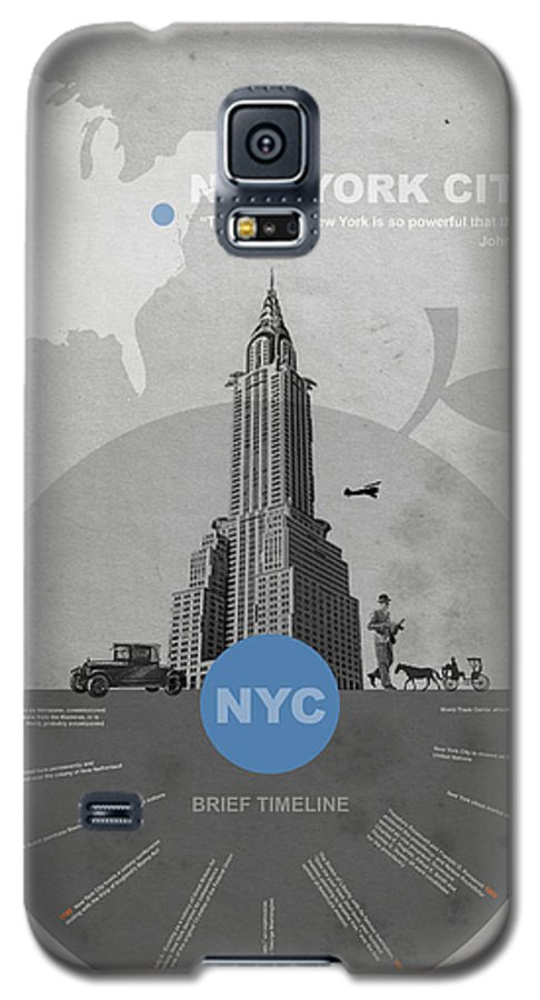 New York Galaxy S5 Case featuring the photograph Nyc Poster by Naxart Studio