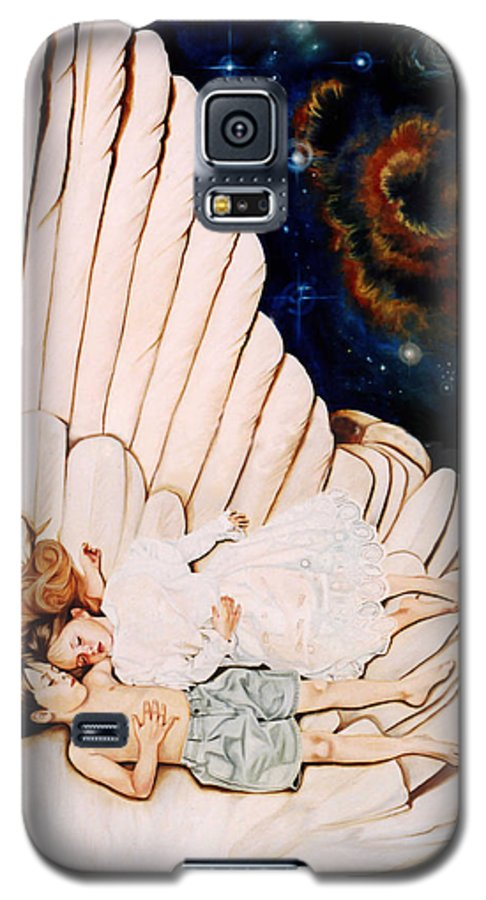 Be Still And Know That I Am God Galaxy S5 Case featuring the painting Be Still by Teresa Carter