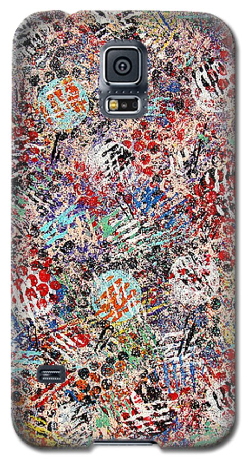 Golf Galaxy S5 Case featuring the painting Golf by Natalie Holland