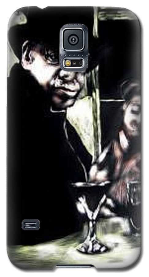 Commentary Galaxy S5 Case featuring the mixed media My Old New Orleans by Chester Elmore