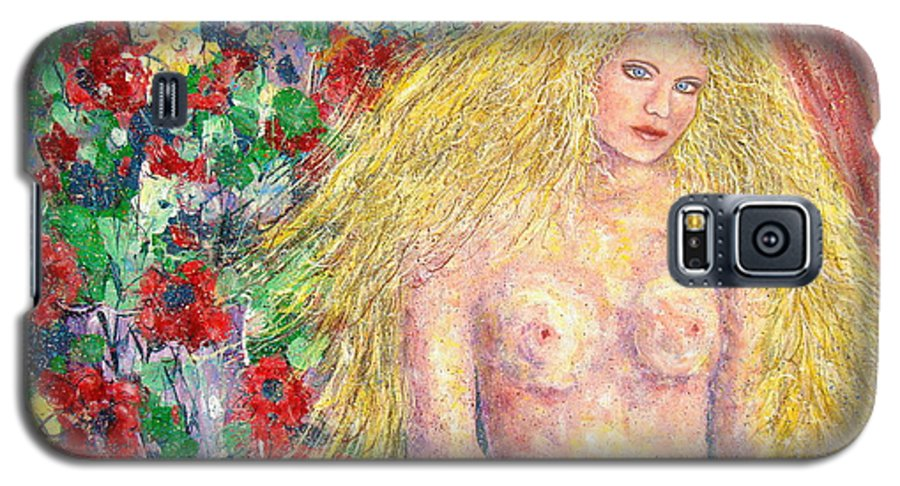 Nude Galaxy S5 Case featuring the painting Nude Fantasy by Natalie Holland