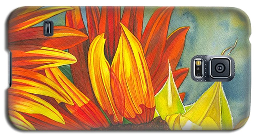 Sunflower Galaxy S5 Case featuring the painting Ray by Catherine G McElroy
