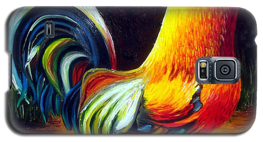 Cuban Art Galaxy S5 Case featuring the painting Rooster by Jose Manuel Abraham