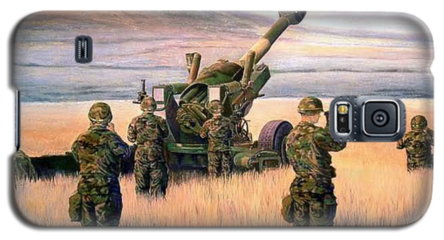 Signed And Numbered Prints Of The Montana National Guard Galaxy S5 Case featuring the print 1-190th Artillery by Scott Robertson