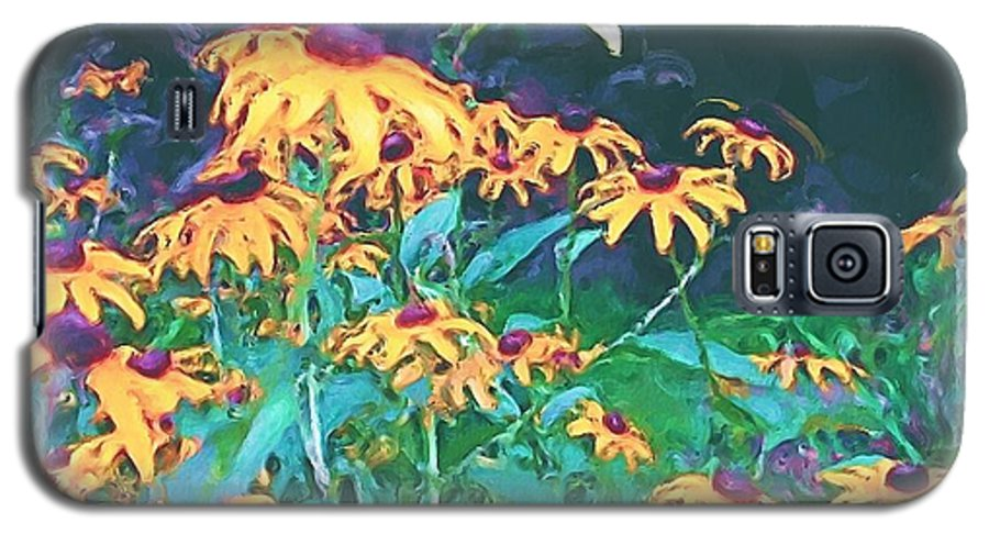 Mixed Media Galaxy S5 Case featuring the painting A Lily In The Field by Patricia Griffin Brett