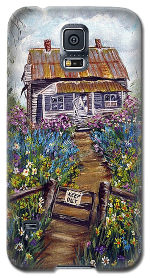 House Galaxy S5 Case featuring the painting Abandoned House by Quwatha Valentine