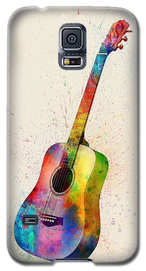 9b8eee96de Acoustic Guitar Galaxy S5 Case featuring the digital art Acoustic Guitar  Abstract Watercolor by Michael Tompsett