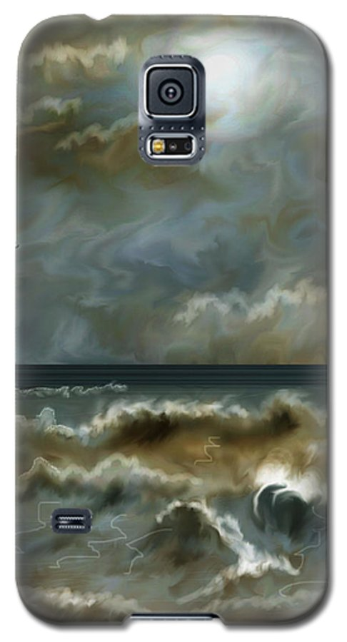Seascape Galaxy S5 Case featuring the painting After The Squall by Anne Norskog