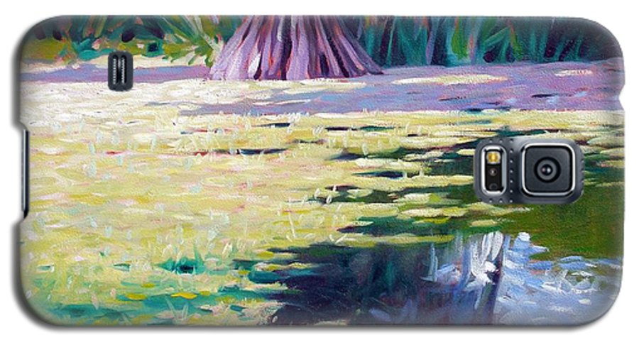 Water Galaxy S5 Case featuring the painting Algae by Kevin Lawrence Leveque