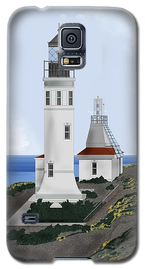 Lighthouse Galaxy S5 Case featuring the painting Anacapa Lighthouse California by Anne Norskog