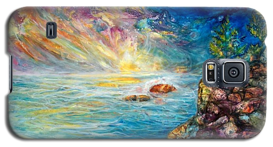 Seascape Galaxy S5 Case featuring the painting Ascension by Mary Sonya Conti