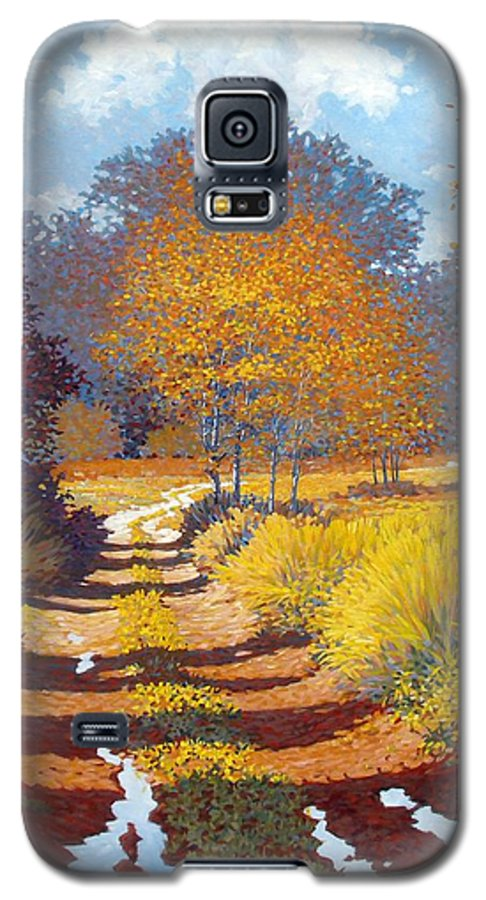 Landscape Galaxy S5 Case featuring the painting Autumn by Kevin Lawrence Leveque