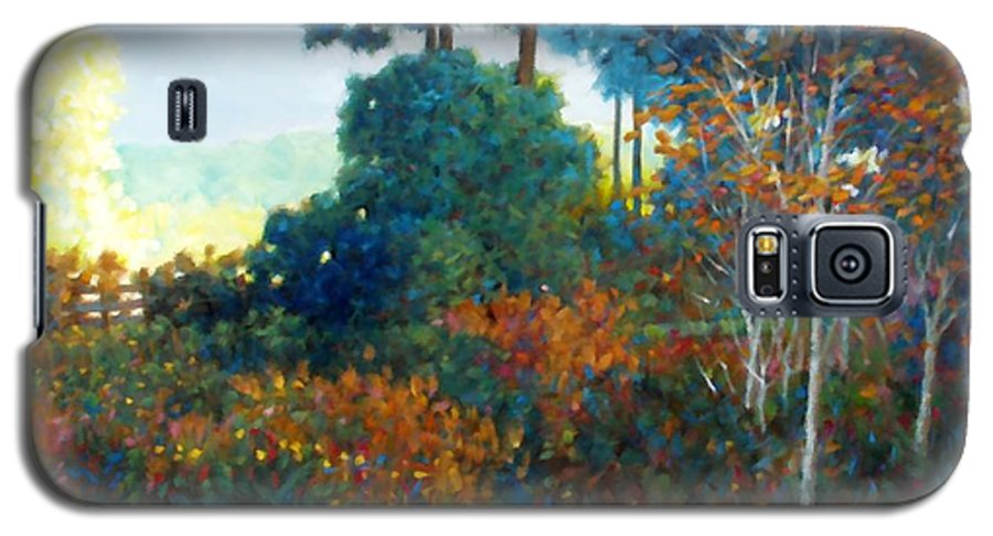 Landscape Galaxy S5 Case featuring the painting Back Gate by Kevin Lawrence Leveque