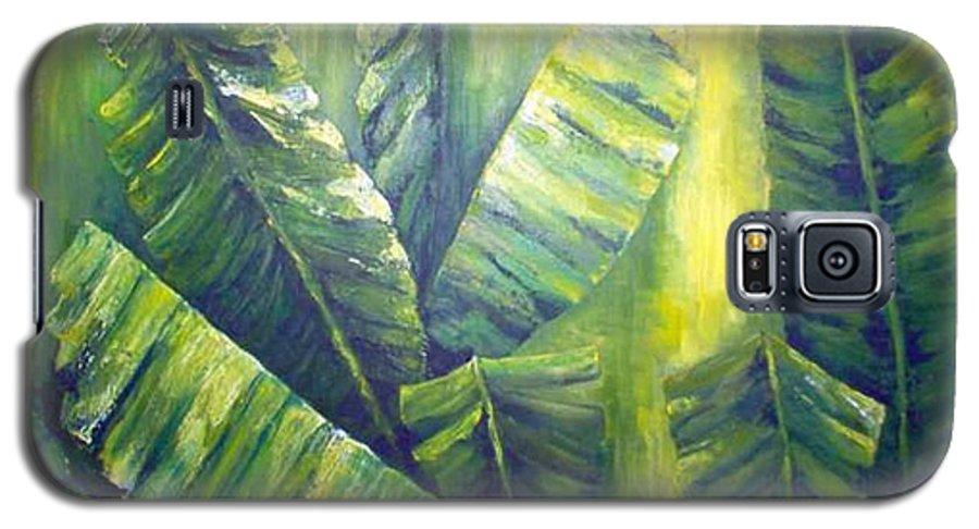 Bananas Galaxy S5 Case featuring the painting Bananas by Carol P Kingsley