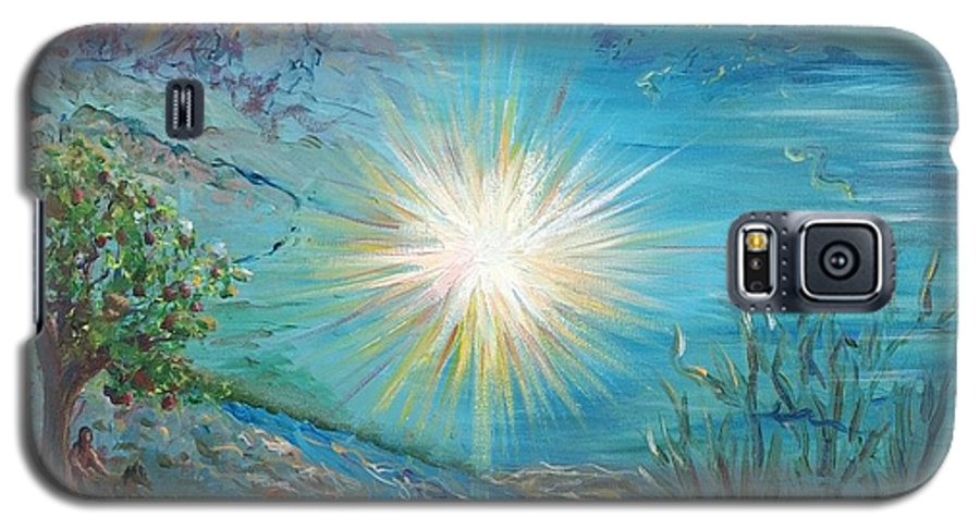 Creation Galaxy S5 Case featuring the painting Creation by Nadine Rippelmeyer