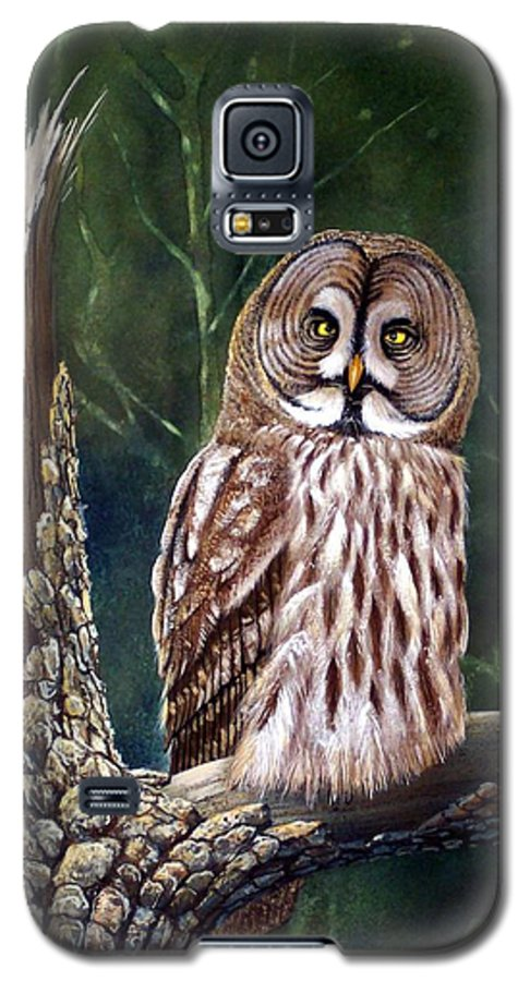Wildlife Galaxy S5 Case featuring the painting Deep In The Woods by Frank Wilson