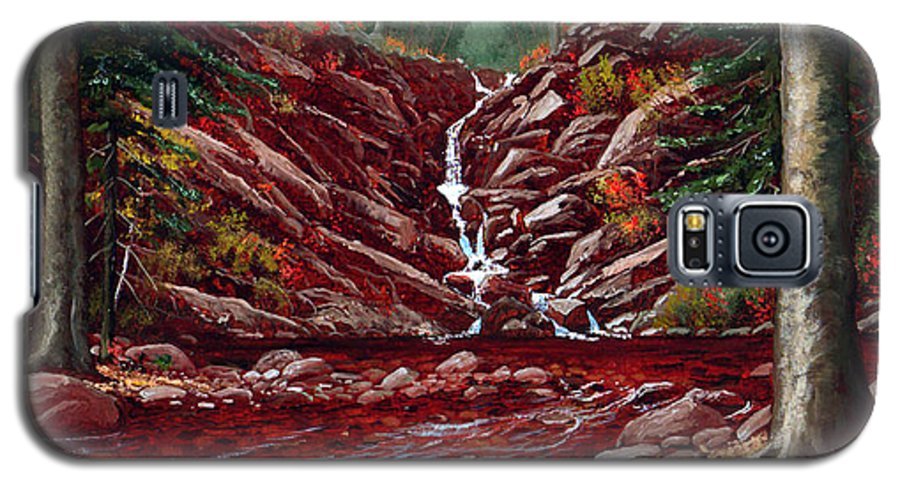 Frank Wilson Galaxy S5 Case featuring the painting Deepwoods Cascade by Frank Wilson