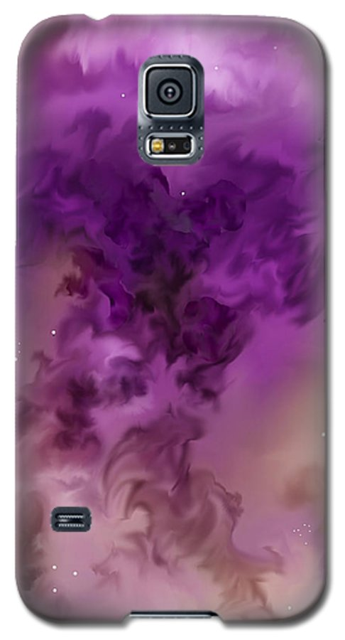 Starscape Galaxy S5 Case featuring the painting Eagle Nebula From The Hubble by Anne Norskog