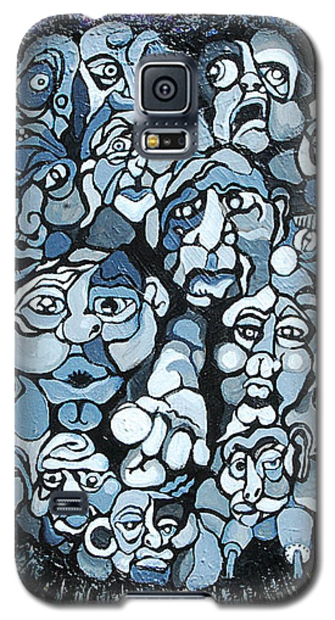 Surreal Galaxy S5 Case featuring the painting Elevator by Julie Fischer