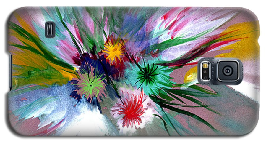 Flowers Galaxy S5 Case featuring the painting Flowers by Anil Nene