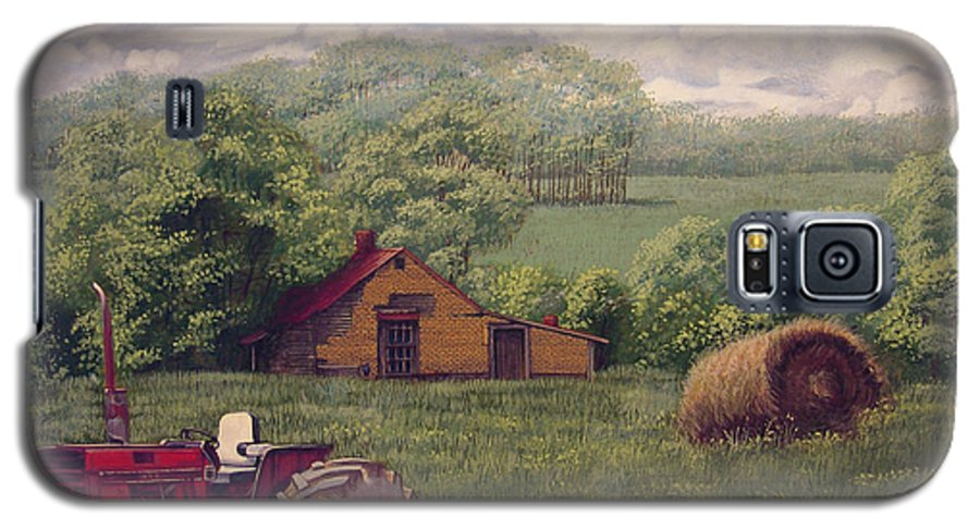 Landscape Galaxy S5 Case featuring the painting Idle In Godfrey Georgia by Peter Muzyka