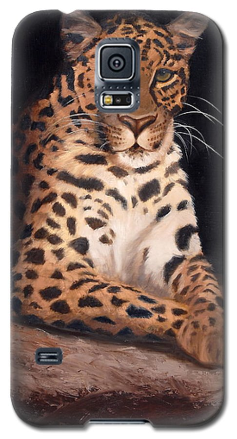 Wildlife Galaxy S5 Case featuring the painting Intrigued by Greg Neal