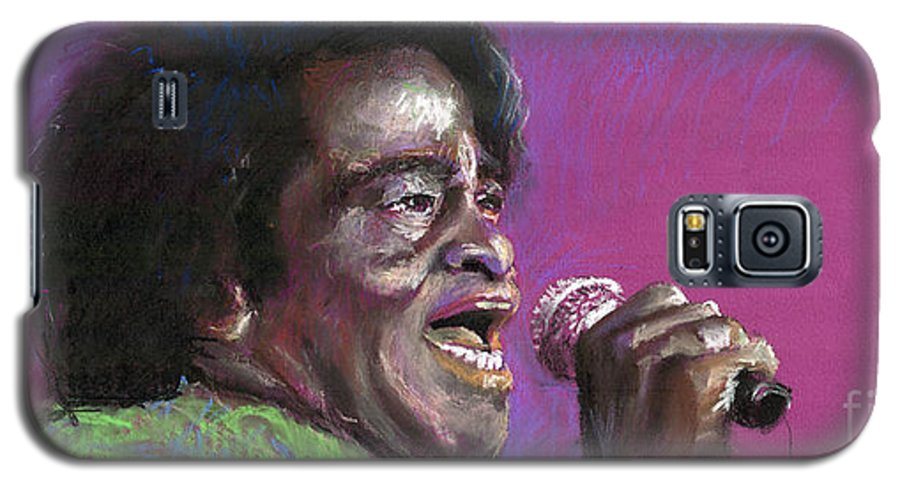 Jazz Galaxy S5 Case featuring the painting Jazz. James Brown. by Yuriy Shevchuk