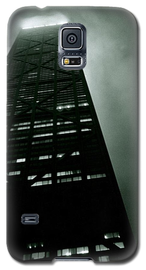 Geometric Galaxy S5 Case featuring the photograph John Hancock Building - Chicago Illinois by Michelle Calkins