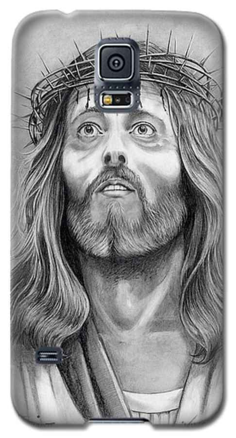 Jesus Christ Galaxy S5 Case featuring the drawing King Of Kings by Murphy Elliott