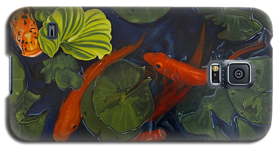 Painting Galaxy S5 Case featuring the painting Koi Ballet by Peter Muzyka