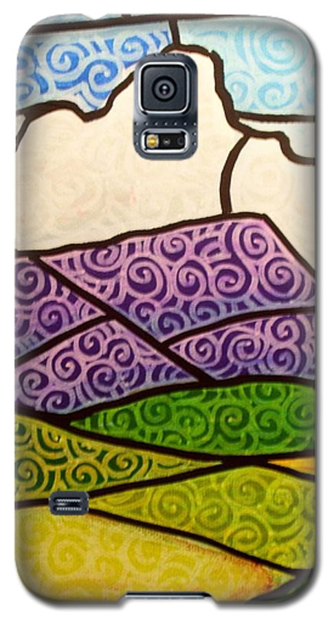 Mountians Galaxy S5 Case featuring the painting Massanutten Peak by Jim Harris