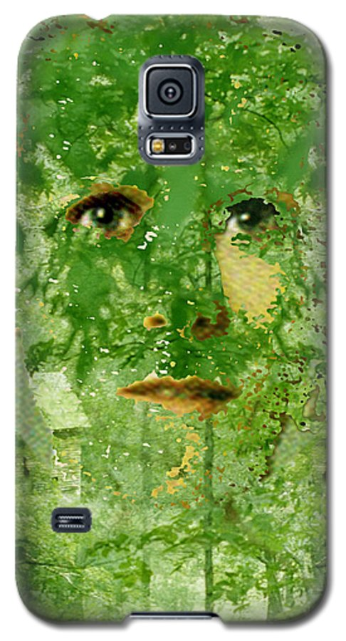 Lady Galaxy S5 Case featuring the digital art Mother Nature by Seth Weaver