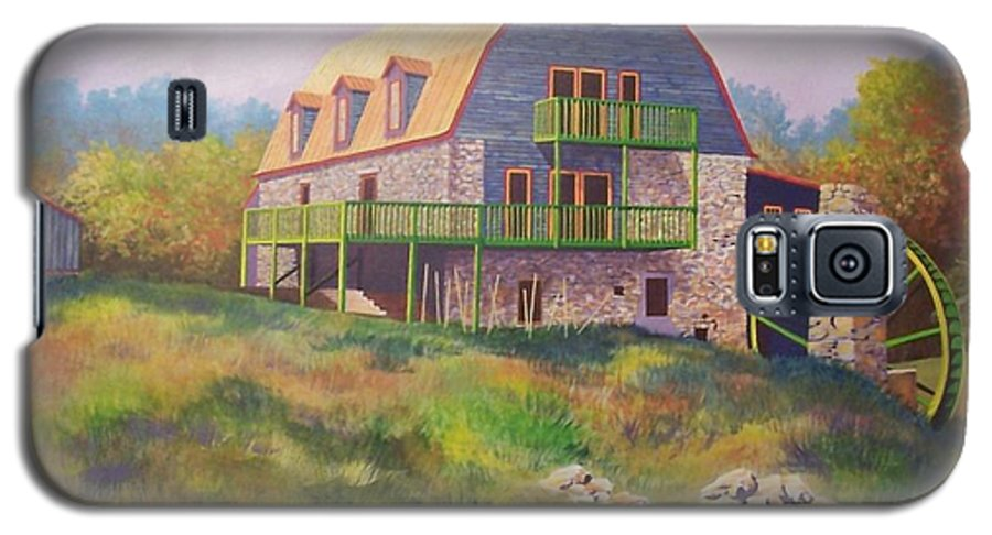 Mill Galaxy S5 Case featuring the painting Mountain Mill by Hugh Harris