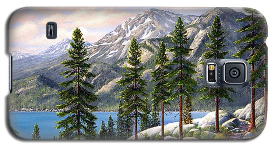 Landscape Galaxy S5 Case featuring the painting Mountain Trail by Frank Wilson