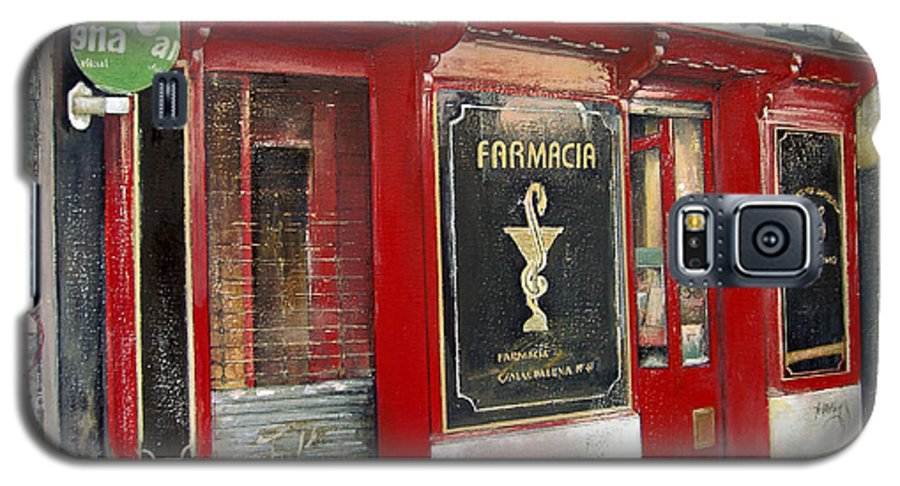 Farmacia Galaxy S5 Case featuring the painting Old Pharmacy by Tomas Castano