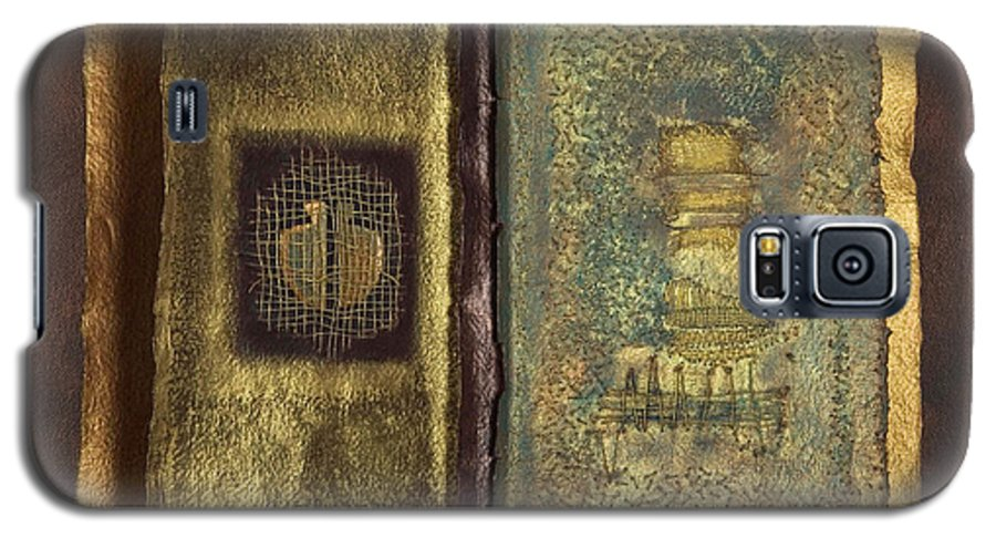 Artist-book Galaxy S5 Case featuring the mixed media Page Format No 1 Transitional Series by Kerryn Madsen-Pietsch