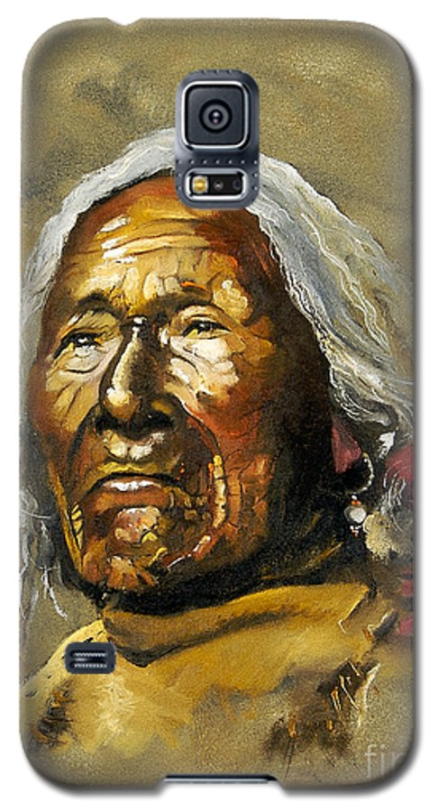 Southwest Art Galaxy S5 Case featuring the painting Painted Sands Of Time by J W Baker
