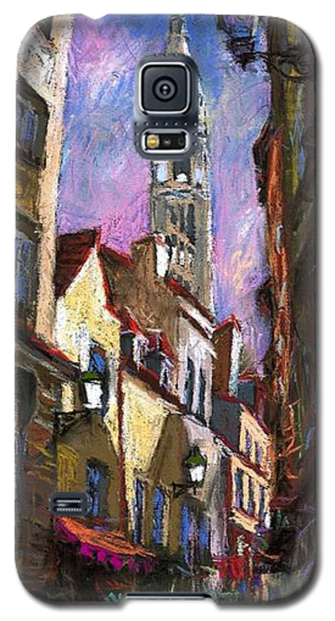 Pastel Galaxy S5 Case featuring the painting Paris Montmartre by Yuriy Shevchuk