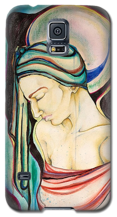 Peace Galaxy S5 Case featuring the painting Peace Beneath The City by Sheridan Furrer