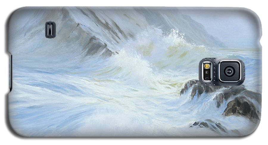 Seascape Galaxy S5 Case featuring the painting Quiet Moment II by Glenn Secrest