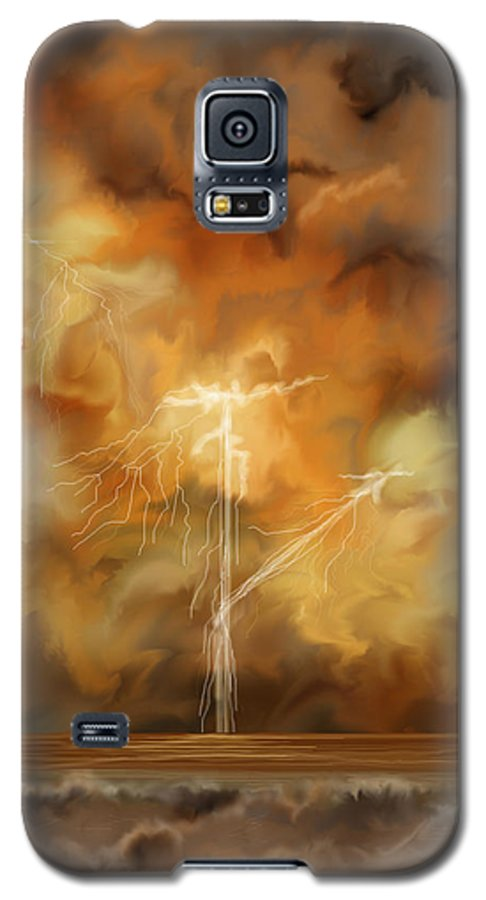 Anne Norskog Galaxy S5 Case featuring the painting Raw Power by Anne Norskog