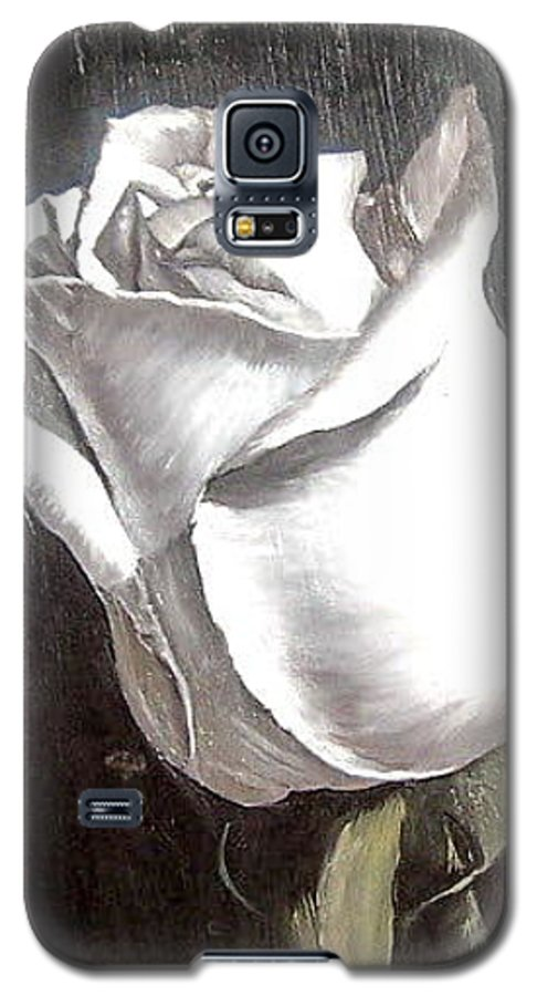 Flower Rose Still Life Galaxy S5 Case featuring the painting Rose 2 by Natalia Tejera