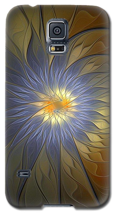 Digital Art Galaxy S5 Case featuring the digital art Something Blue by Amanda Moore