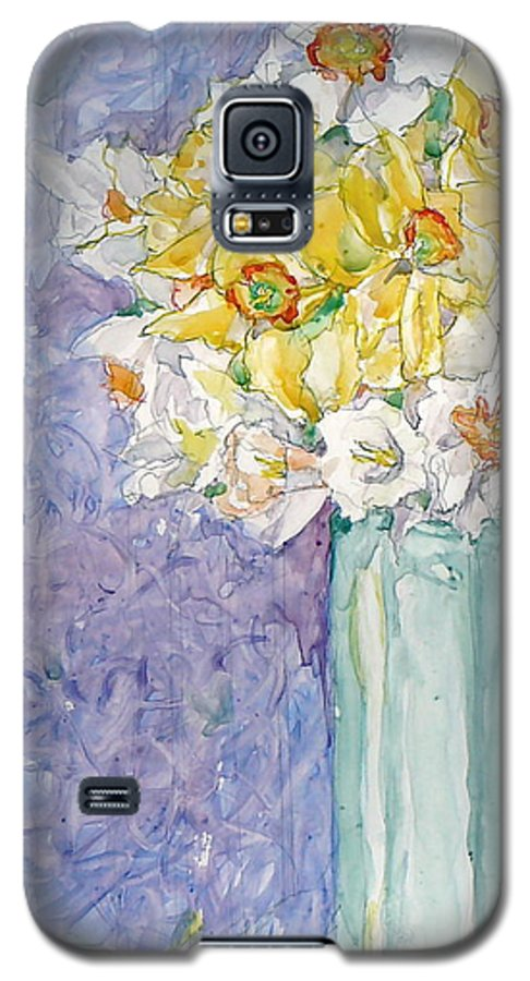 Watercolor Galaxy S5 Case featuring the painting Spring Blossoms by Jan Bennicoff