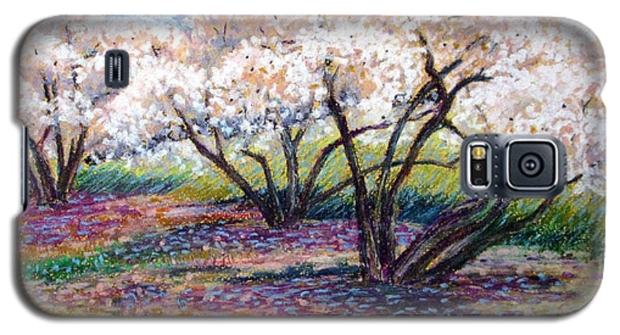 Oil Pastel Galaxy S5 Case featuring the painting Spring Has Sprung by Art Nomad Sandra Hansen
