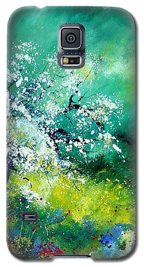 Flowers Galaxy S5 Case featuring the painting Spring by Pol Ledent