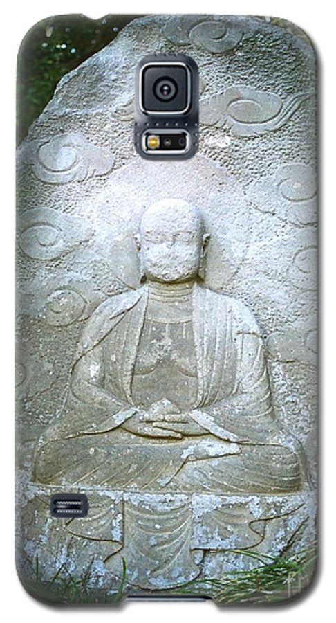Stone Galaxy S5 Case featuring the photograph Stone Buddha by Dean Triolo