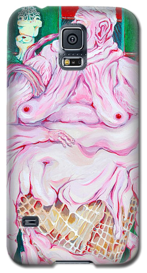 Surreal Galaxy S5 Case featuring the painting Strawberry Sherbet by Julie Fischer