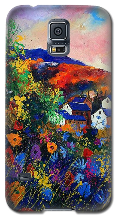 Landscape Galaxy S5 Case featuring the painting Summer by Pol Ledent